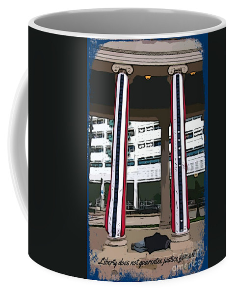 Liberty For All Coffee Mug featuring the digital art Liberty For All by John Malone