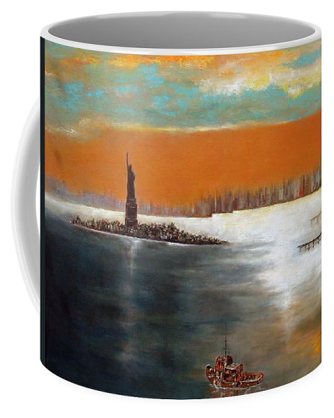 Nyc Coffee Mug featuring the painting Liberty by Lord Frederick Lyle Morris - Disabled Veteran