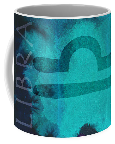Libra Coffee Mug featuring the digital art Libra by Joelle Bhullar
