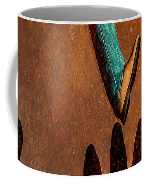Surreal Coffee Mug featuring the painting Life by Bob Orsillo
