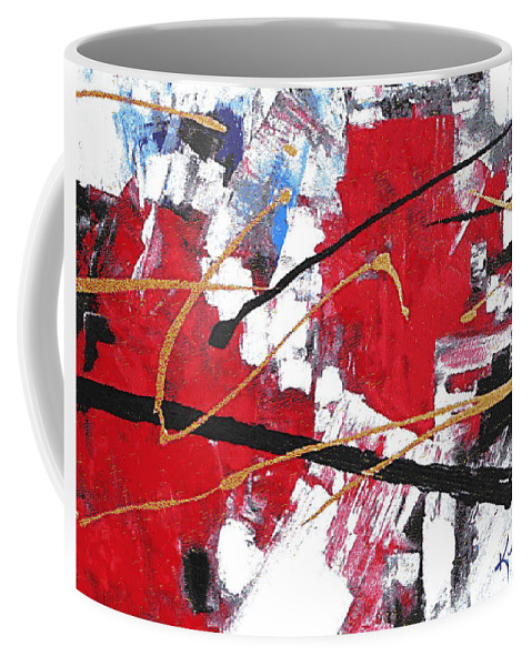 Big City Coffee Mug featuring the painting Life In The City by Kume Bryant