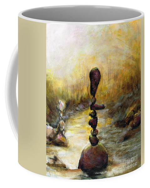 Zen Gardens Coffee Mug featuring the painting Life Is A Balancing Act by Frances Marino