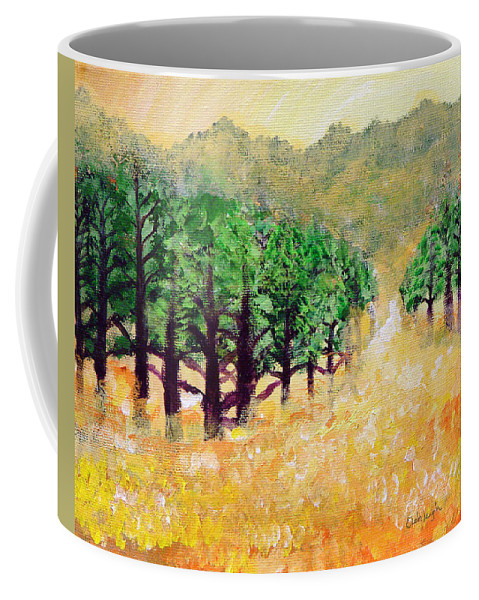 Landscape Coffee Mug featuring the painting Life's Path by Ashleigh Dyan Bayer