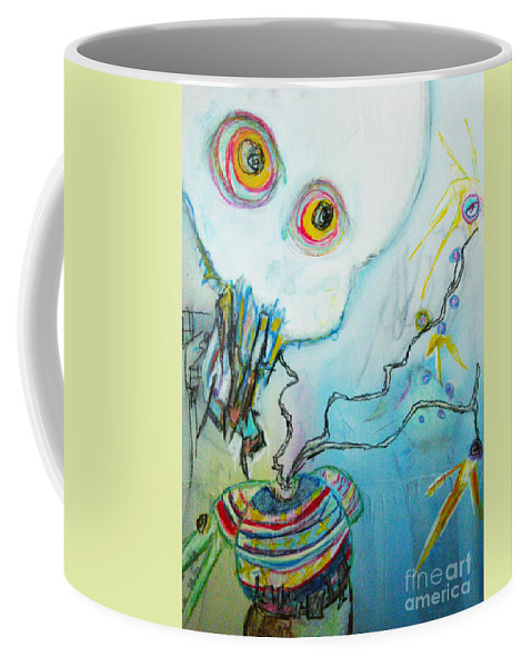 Abstract Painting Coffee Mug featuring the painting Lift by Jeff Barrett