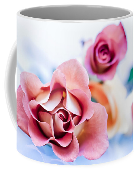 Rose Coffee Mug featuring the photograph Light And Roses by Elvira Pinkhas