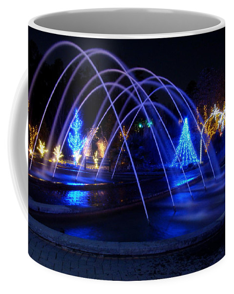 Fine Art Coffee Mug featuring the photograph Light And Water In Motion by Rodney Lee Williams