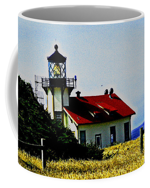 Lighthouse Coffee Mug featuring the photograph Light House At Midday by Joseph Coulombe