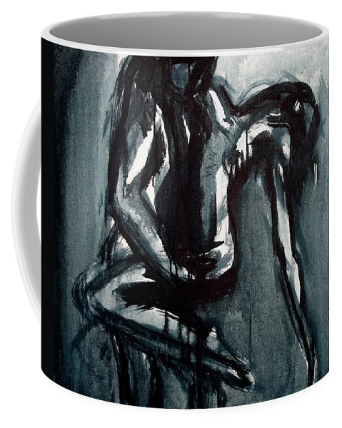 Beautiful Coffee Mug featuring the painting Light In The Darkness by Jarmo Korhonen aka Jarko