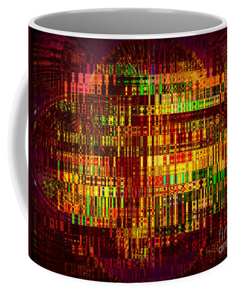 Abstract Coffee Mug featuring the photograph Light Show by Miriam Danar