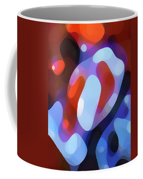 Abstract Coffee Mug featuring the painting Light Through Fall Leaves by Amy Vangsgard