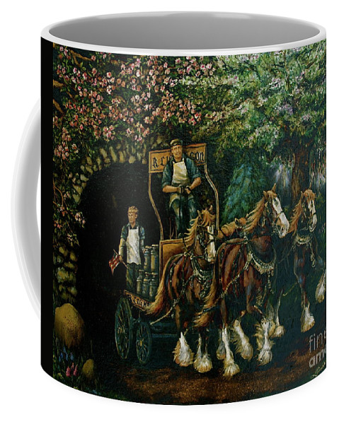 Coffee Mug featuring the painting Light Touch by Linda Simon
