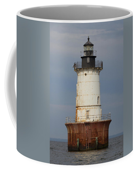 Bay Coffee Mug featuring the photograph Lighthouse 3 by Leah Palmer