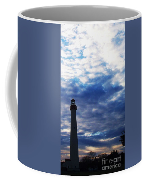 Lighthouse Coffee Mug featuring the photograph Lighthouse At Cape May Nj by Eric Schiabor