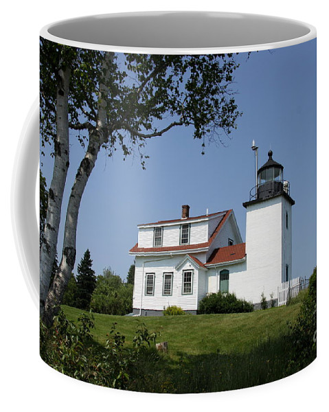 Fort Point Light Coffee Mug featuring the photograph Lighthouse Fort Point by Christiane Schulze Art And Photography