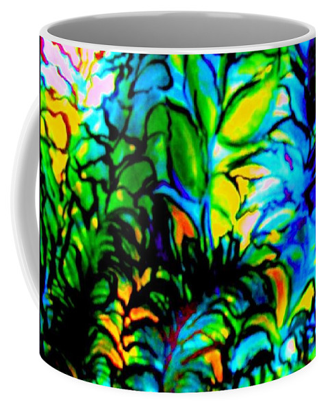 Underwater World Coffee Mug featuring the painting Lighting Up The Night by Hazel Holland