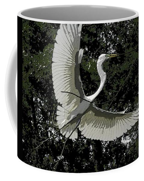 Heron Coffee Mug featuring the photograph Lightness Of Being by James Ekstrom