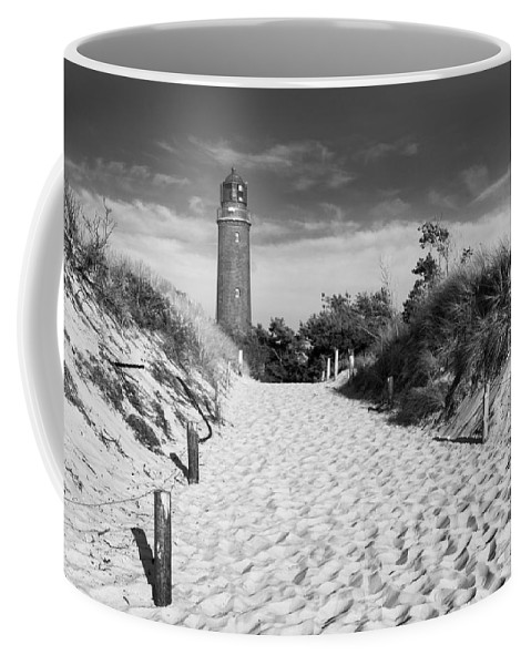 Ostsee Coffee Mug featuring the pyrography Lightning Prerow by Steffen Gierok