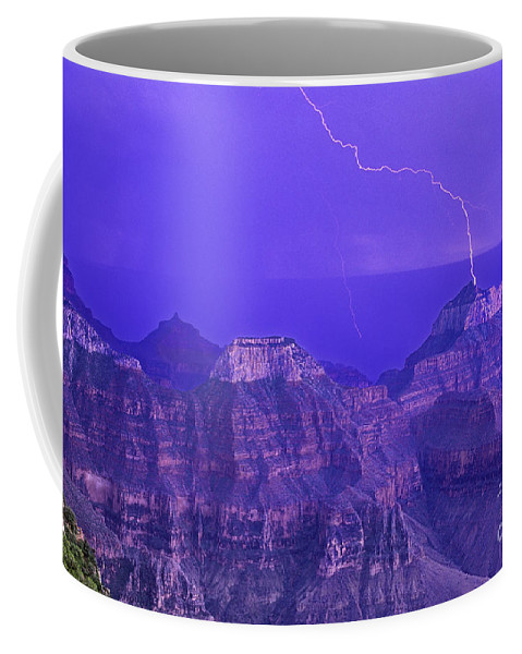 North America Coffee Mug featuring the photograph Lightning Storm North Rim Grand Canyon National Park Arizona by Dave Welling