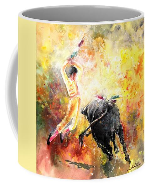 Animals Coffee Mug featuring the painting Lightning Strikes by Miki De Goodaboom