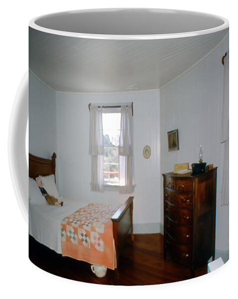 Lighthouses Coffee Mug featuring the photograph Ligthouse Bedroom At Drum Point by Skip Willits