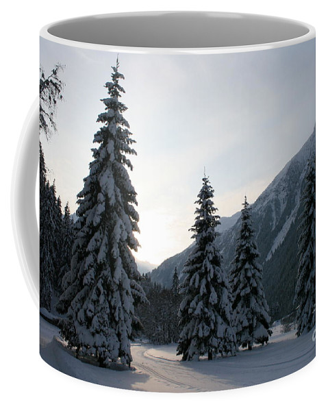 Snow Coffee Mug featuring the photograph Like Powdered Sugar by Christiane Schulze Art And Photography