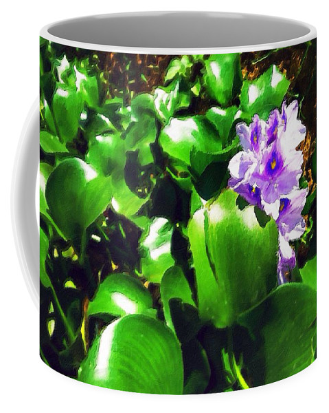 Lilac Coffee Mug featuring the painting Lilac Pink Beauty by Florian Rodarte