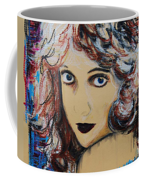 Figurative Work Coffee Mug featuring the painting Lillian Gish by Maria Mitchell