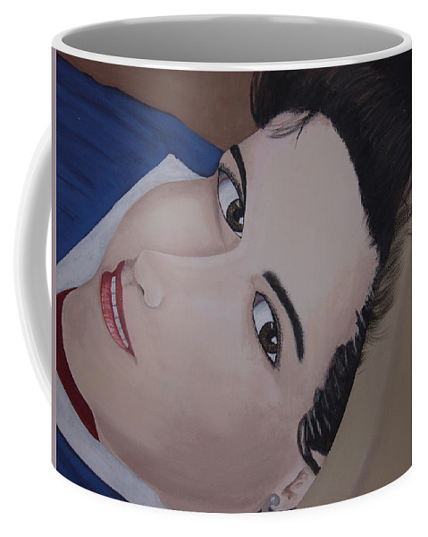 Portrait Coffee Mug featuring the painting Lilly by Dean Stephens