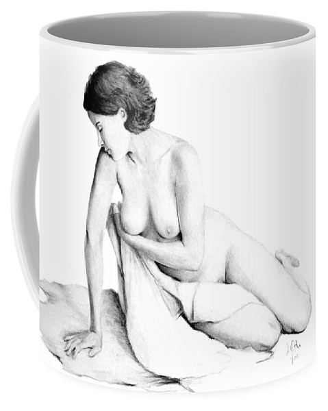 Joe Ogle Coffee Mug featuring the drawing Lily Grace Of Form 3 by Joseph Ogle