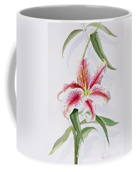 Botanical: Flowers 19th Coffee Mug featuring the painting Lily by Izabella Godlewska de Aranda