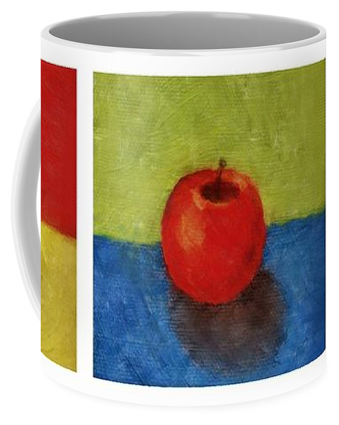 Lime Coffee Mug featuring the painting Lime Apple Lemon by Michelle Calkins