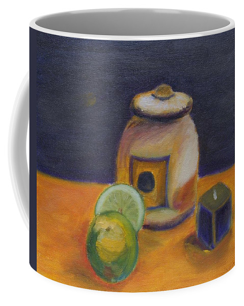 Still Life Coffee Mug featuring the painting Limes by Jamie Frier