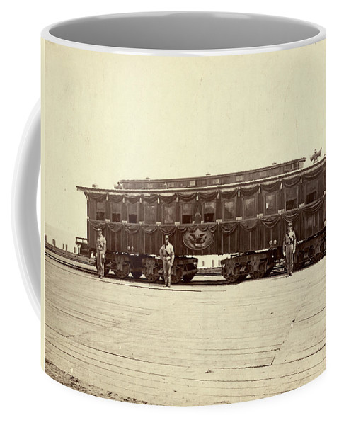 1865 Coffee Mug featuring the photograph Lincoln Funeral Car, 1865 by Granger