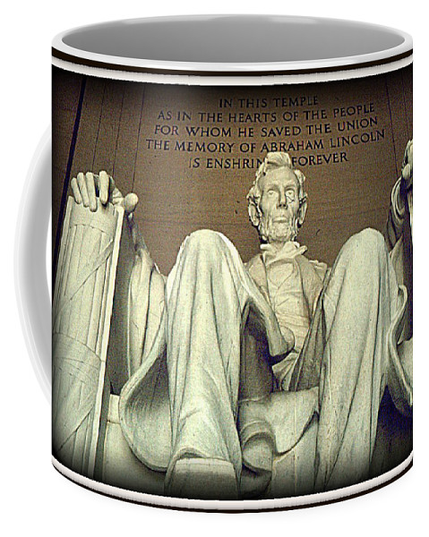 Abraham Lincoln Coffee Mug featuring the photograph Lincoln by Greg Thiemeyer