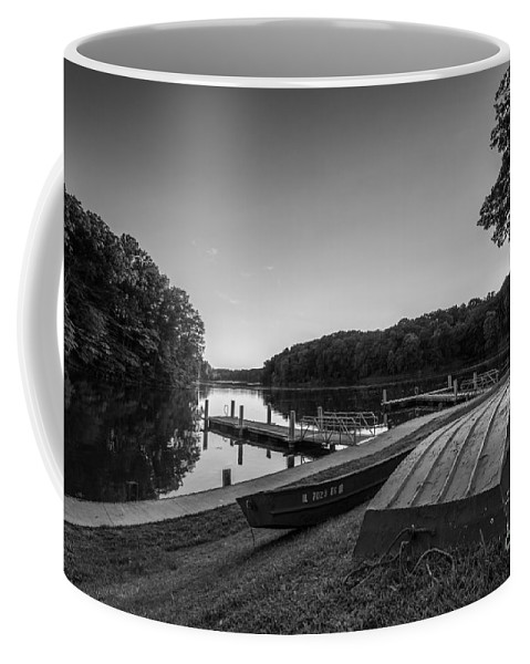 Lincoln Trail State Park Coffee Mug featuring the photograph Lincoln Trail State Park Bw by Michael Ver Sprill