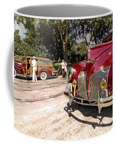 Antique Coffee Mug featuring the photograph Lincoln Zephyr by John Anderson