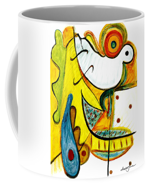 Abstract Art Coffee Mug featuring the painting Linda Paloma by Stephen Lucas