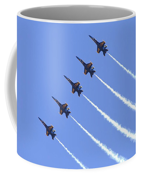 5032 Coffee Mug featuring the photograph Line Abreast Pass by Gordon Elwell
