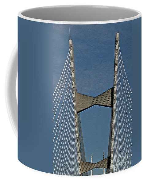 Bridge Coffee Mug featuring the photograph Line Design by Lydia Holly