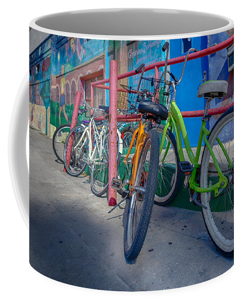 Bicycle Coffee Mug featuring the photograph Line Em Up by Scott Campbell