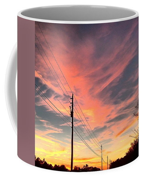Sunset Coffee Mug featuring the photograph Lined Up by Tyson Kinnison