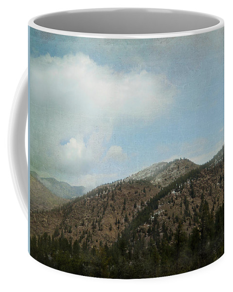 Mountains Coffee Mug featuring the photograph Lingering Spring Snow by Judy Hall-Folde