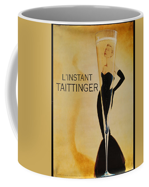 L'instant Taittanger Coffee Mug featuring the digital art L'Instant Taittinger by Georgia Fowler