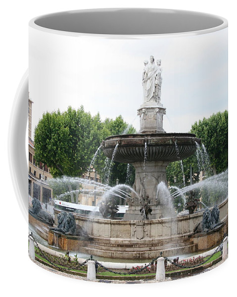 Fountain Coffee Mug featuring the photograph Lion Fountain - Aix En Provence by Christiane Schulze Art And Photography