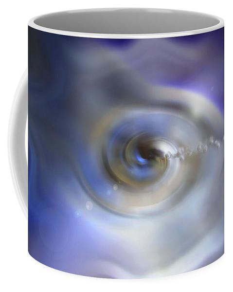 Liquid Eye Coffee Mug featuring the digital art Liquid Eye by Linda Sannuti