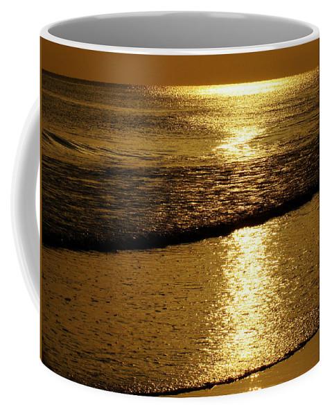 Panama City Beach Coffee Mug featuring the photograph Liquid Gold by Sandy Keeton