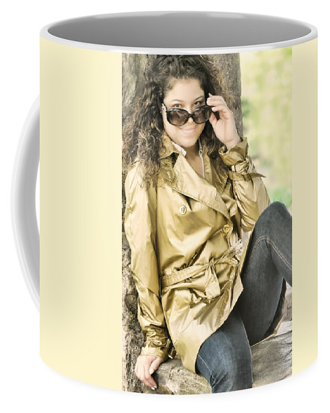 Portrait Coffee Mug featuring the photograph Lisa by Diana Angstadt
