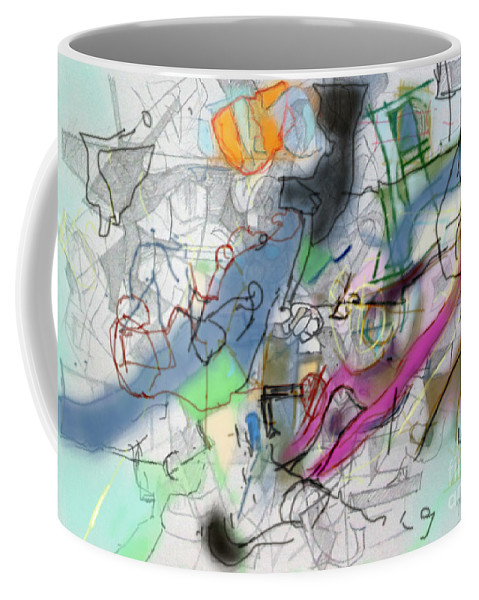 Torah Coffee Mug featuring the digital art Listening To The Words Of The Wise 3 by David Baruch Wolk