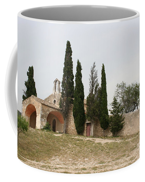 Chapel Coffee Mug featuring the photograph Little Chapel On A Hill by Christiane Schulze Art And Photography