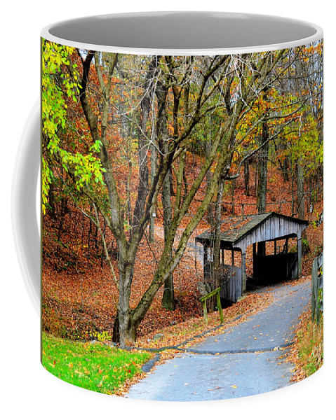 Covered Bridge Coffee Mug featuring the photograph Little Covered Bridge by Debbi Granruth